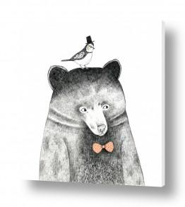 חיות חיות בר | דב וציפור