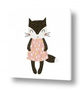 ציורים בעלי חיים | חתולית