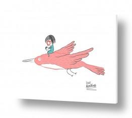 ציורים בעלי חיים | לעוף עם הדמיון