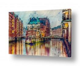 ציורים עירוני וכפרי | יופי עירוני