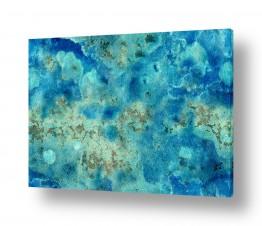 חדר רחצה אמבטיה חדר אמבטיה בועות גלים ומים | כחולים