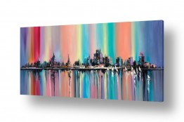 תמונות נופים נוף נוף פנורמי | נוף צבעוני של עיר