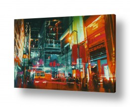 ציורים עירוני וכפרי   אורות הכרך