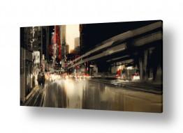 ציורים Artpicked  | עירוני באדום ושחור