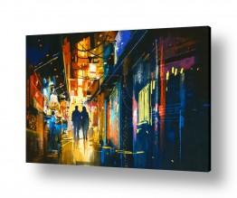 ציורים עירוני וכפרי | אוהבים בעיר הגדולה
