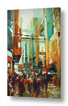 ציורים עירוני וכפרי | המולת הרחוב