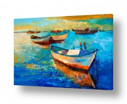 תמונות לסלון | נוף עם סירות 1