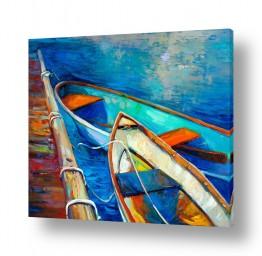 תמונות לפי נושאים דייגים | נוף עם סירות 2