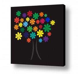 תמונות לפי נושאים דיגיטלי | Flower Tree