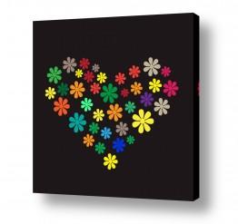 תמונות לפי נושאים דיגיטלי | Flower Heart