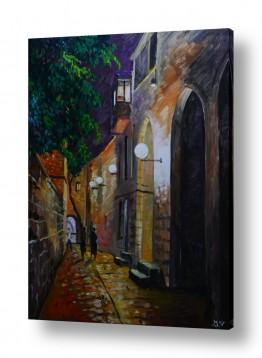 תמונות לפי נושאים חושך | לילה בעיר העתיקה בירושלים