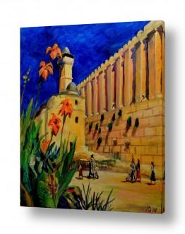 ציורים יהדות | פריחה במערת המכפלה