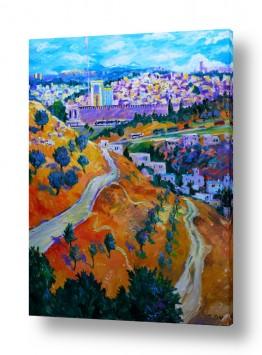 ציורים שמואל מושניק | ירושלים בעתיד