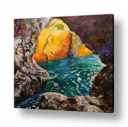 ציורים מים | מערות ראש הנקרה