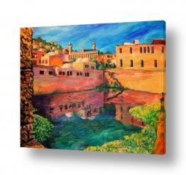 ציורים עירוני וכפרי | בריכת הסולטן בחברון