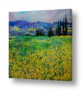 ציורים שמואל מושניק | דמדומי ערב בעמק האלה