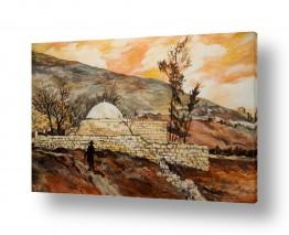 ציורים יהדות | קבר יוסף בתחילת המאה ה-20