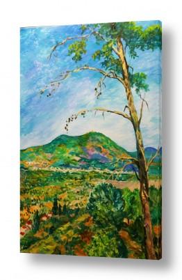 ציורים שמיים | מבט אל הר מירון