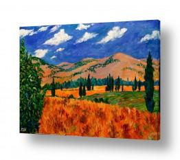 ציורים שמואל מושניק | הרי נפתלי
