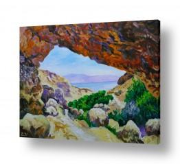ציורים שמואל מושניק | עין המדבר (עין גדי)