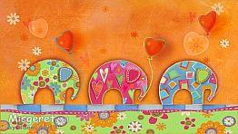 פילים צבעונים