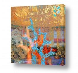 תמונות לפי נושאים דקורטיבי | עצי פסיפס ברקע זהב