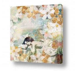 צבעים פופולארים צבע חימר | חלום פרחוני בלבן