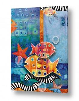ציורים חדרי ילדים | דגים במעמקים