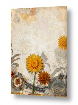 צבעים פופולארים צבע חימר | פרח חמניה זהוב