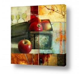 ציורים ציור   תיבת התפוחים