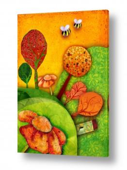 ציורים חדרי ילדים | חלום מתוק 9