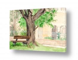 טבע דומם ספסלים | מקום לנוח