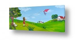 ציורים חדרי ילדים | הילדה עם העפיפון