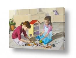 נשים בנות | ילדות משחקות