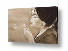 ציורים אנשים ודמויות | מפריחה בועות