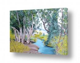 ציורים מים | על גדות הנחל