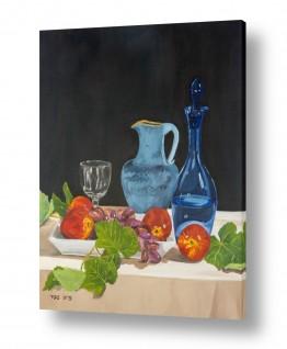 ציורים טבע דומם | טבע דומם עם פירות