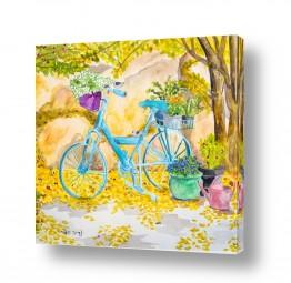 ציורים ציור בצבעי מים | פינה בחצר