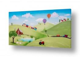 ציורים חדרי ילדים | נוף הכפר