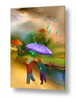 תמונות לפי נושאים טיול | טיול בגשם