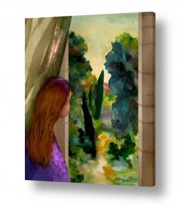 ציורים נריה איטקין | נוף חלוני
