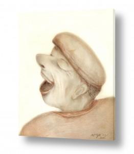 ציורים רישום | האדם הצוחק