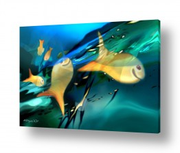 ציורים נריה איטקין | חיוך הדג