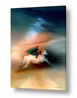 ציורים נריה איטקין | סוס ורוכבו