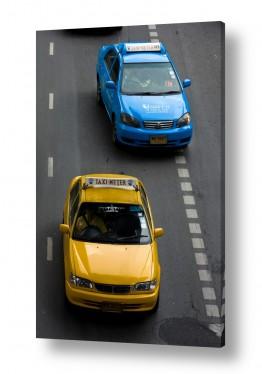 כלי רכב מוניות | כחול וצהוב