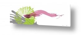 סגנונות אבסטרקט | פרח ירוק