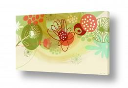 תמונות לחדרי ילדים | פרחים שמחים