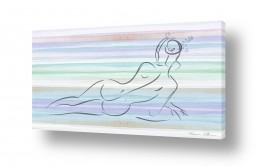 ציורים ציור בצבעי מים | פרח בשערה