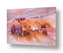 ציורים ציור בצבעי מים | שדה חרוש