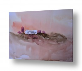 ציורים אורן יבנין | נוף חום